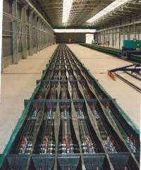 Longline Gleisschwellen Produktion